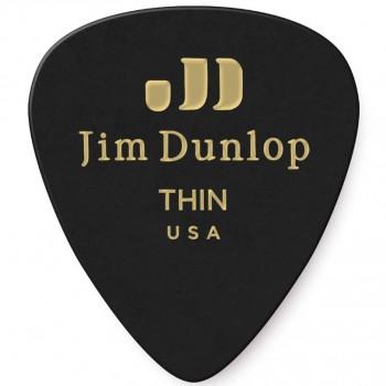 Dunlop Genuine Celluloid Black Thin